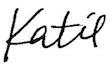 Katie's signature